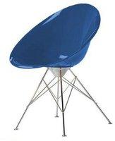 Kartell Ero/S/ Armstuhl Stahlrohrgestell kobaltblau (transparent)