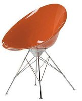 Kartell Ero/S/ Armstuhl Stahlrohrgestell orange (transparent)