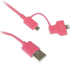 PQI i-Cable Du-Plug 90 pink