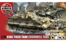 Airfix King Tiger Tank and Cromwell Tank Classic Conflict Gift Set (50142)