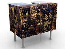 Mantiburi Design Waschtisch New York Skyline bei Nacht 60 x 55 x 35 cm