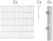 GAH Metall-Zaun-Grundset Doppelstabmatte BxH: 10 x 1,4 m