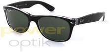 Ray Ban New Wayfarer RB2132 6052 52 (top black on transparent/green)