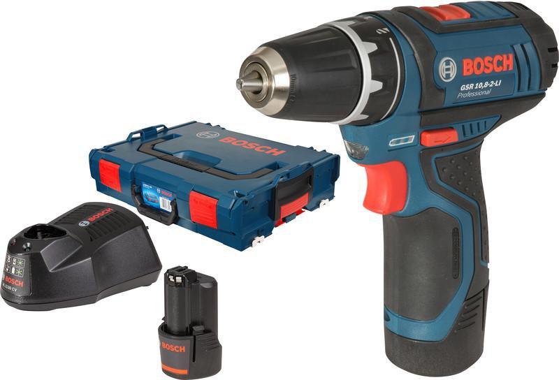 Bosch gsr 10 8 2 li professional 2 x 1 3 ah l boxx 0 - Gsr 10 8 2 li professional ...