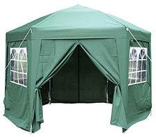 ESC Ltd Airwave Pop-Up-Pavillon, 3,5 m, sechseckig, grün