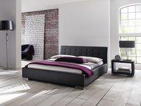 Meise Möbel Polsterbett Isa schwarz 200x200 cm