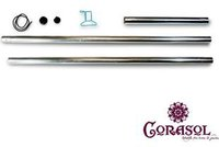 Corasol Stahlmast-Set (Mast, Pfosten)