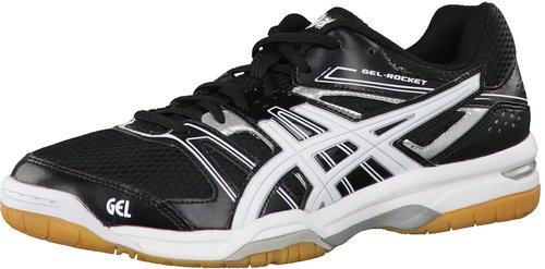 Asics Gel-Rocket 7, Herren Volleyballschuhe, Weiß (White/Flash Yellow/Black 0107), 44.5 EU