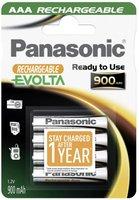 Panasonic Rechargeable Evolta AAA Ni-MH 1,2V 900 mAh (4 St.)