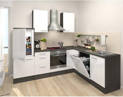 Respekta Premium L Küche Eiche-grau weiß (260x200 cm) günstig