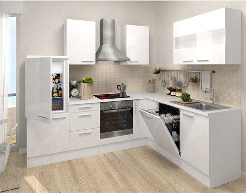 respekta premium l küche weiß weiß (260x200 cm) preisvergleich ab
