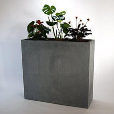 Eleganteinrichten XXXL-Pflanztrog 110x38x100cm anthrazit grau