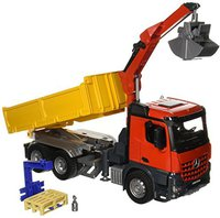 Bruder Mercedes-Benz Arocs Baustellen-LKW mit Kran und Zubehör (03651)