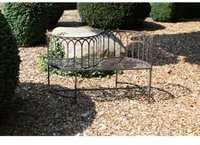 Garden Pleasure Gartenbank mit geschwungener Lehne (Eisen)