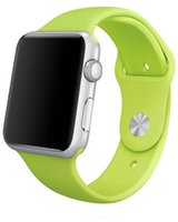 Apple Watch Sport Aluminiumgehäuse 42mm silver mit Sportarmband green