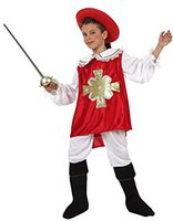 Atosa Kinder-Verkleidung Musketier rot