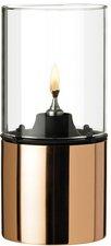 Stelton Öllampe mit Glasschirm klar - kupfer