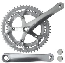 M-ighty Alu/Stahl-Kettengarnitur 2-fach