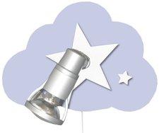 Waldi Wandlampe Wolke Starlight 1-flg.- helllblau
