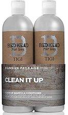 Tigi Bed Head for Men Clean Up Shampoo + Spülung (2x 750 ml)