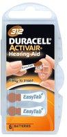 Duracell EasyTab DA 312 Zink-Luft Batterie 1,4V (6 St.)