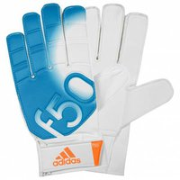 Adidas F50 Training Torwarthandschuhe white/solid blue/solar zest