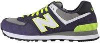 New Balance WL574 grey/dark purple/volt (WL574SPY)