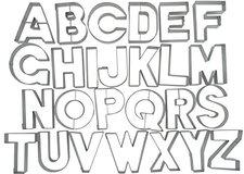 Städter Ausstecher-Set Buchstaben