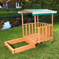 Mucola XL Sandkasten / Spielhaus mit Sandkiste (grün)