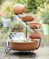 Wetelux Solar Cascaden Brunnen - 4 Schalen und 1 Krug