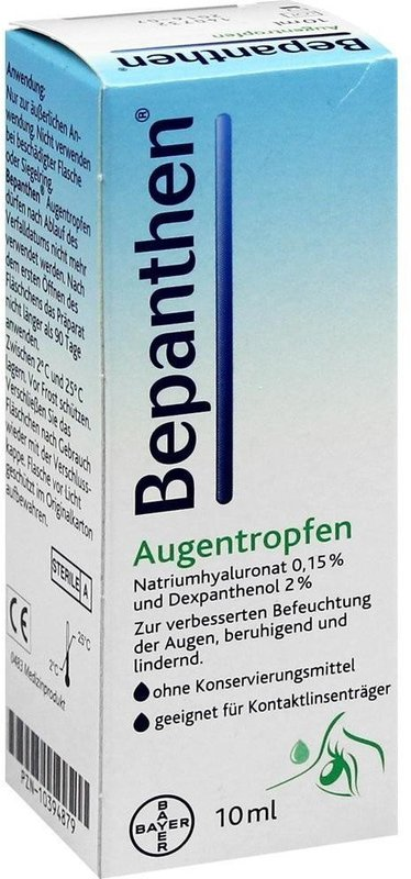 bayer bepanthen augentropfen 10 ml preisvergleich ab 7 93. Black Bedroom Furniture Sets. Home Design Ideas