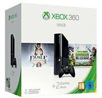 Microsoft Xbox 360 E 500GB + Fable Anniversary + Plants vs Zombies: Garden Warfare