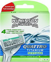 Wilkinson Quattro Titanium Sensitive Ersatzklingen (12 Stk.)