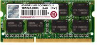 Transcend 4GB SO-DIMM DDR3 PC3-12800 CL11 (TS512MSK64V6N)
