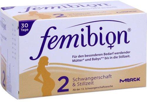 Merck Femibion Schwangerschaft 2 D3 + DHA + 400 µg Folat