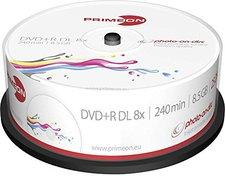 Primeon DVD+R Double Layer 8,5 GB Photo-On-Disc 25er