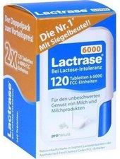 Pro Natura Lactrase 6.000 FCC Tabletten im Klickspender (2 x 120 Stk.)