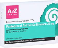 AbZ Pantoprazol Sodbrennen 20 mg magensaftresitente Tabletten (7 Stk.)