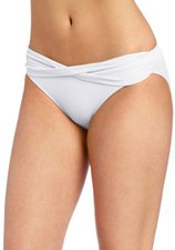 Seafolly Goddess Twist Band Hipster Pant white