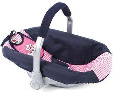 Bayer Chic Puppen-Autositz - pink checker