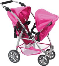 Bayer Chic Vario Tandem-Buggy - hot pink pearls