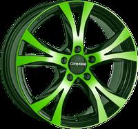 Carmani 9 Compete (6,5x16) neon grün pöliert