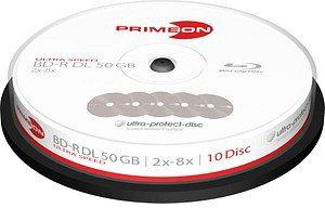 Primeon BD-R Ultra-Protect-Disc 50GB 8x 10er Cakebox
