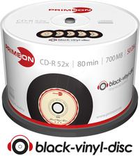 Primeon CD-R Black-Vinyl 700MB 52x 50er Cakebox