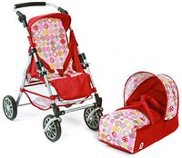 Bayer Chic Kombi-Puppenwagen Exchange - ruby red
