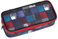 4You Pencil Case mit Geodreieck squares blue/red
