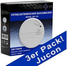 Jucon KD-134 Brandmelder, 3er-Pack