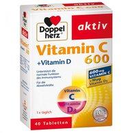 Doppelherz Vitamin C 600 + Vitamin D Tabletten (40 Stk.)
