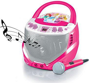 Lexibook K7000DP Disney Prinzessin CD + G-Karaoke-Player