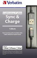 Verbatim Lighting Sync & Charge 120 cm grau